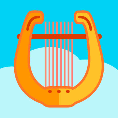 lyre: Greek golden lyre vector illustration