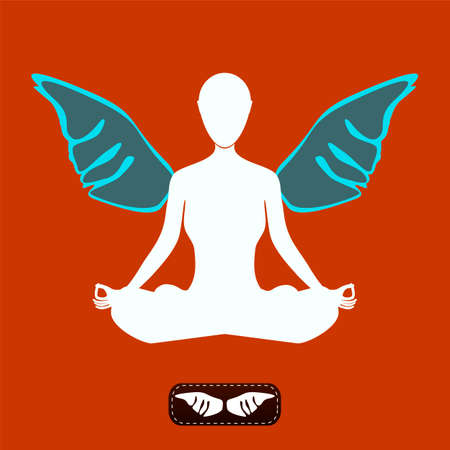 confident: Yoga woman with wings, confident woman