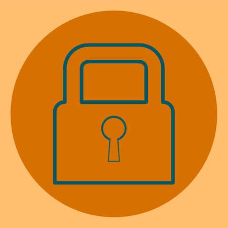 secret codes: Padlock, the symbol of a closed, secret, deny access Illustration