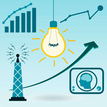 resource conservation: Light bulb filament. The energy sector, growth charts, resource conservation, energy consumption, the invention of telecommunications and television