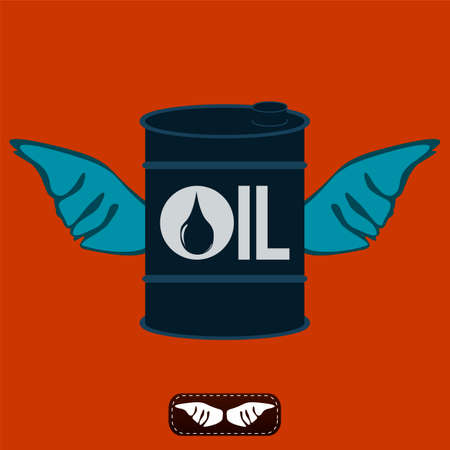 pail tank: Oil barrel with wings. Oil production. The rise in oil prices. Refinery. The shipment of oil.