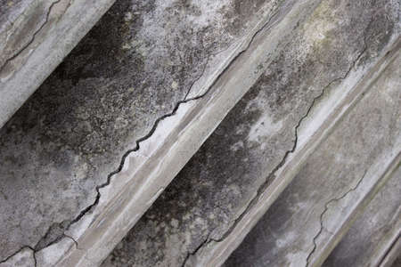 or shatter: Concrete grey wall with cracks closeup