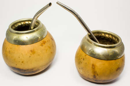 mate: Calabash for mate on white
