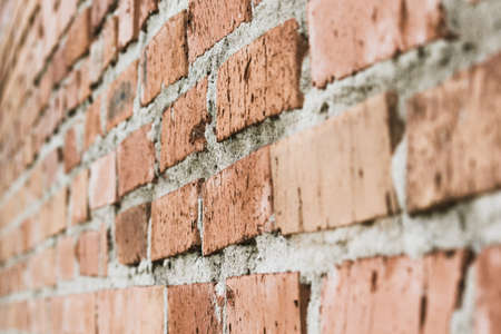 Old wall of red brick Stock Photo