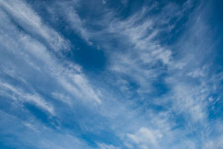 clouds in blue sky as background Imagens