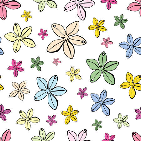 Set of modern multicolored beads for women. Stylish wallpaper with beads of various shapes on a white background.  イラスト・ベクター素材