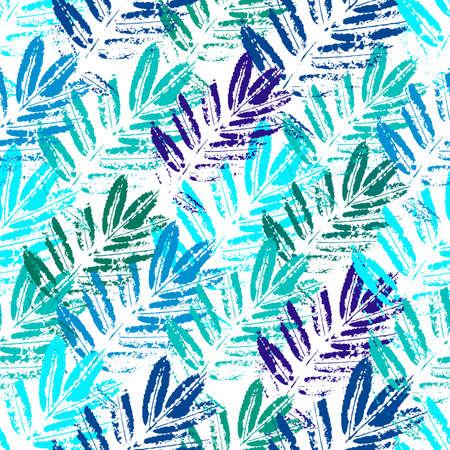 Papel pintado con estilo de hojas de colores. Impresiones de hojas de colores sobre un fondo blanco.