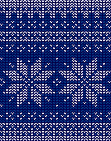 Festive Scandinavian ornament. Bright textiles for fashionable winter clothes. Ilustracja