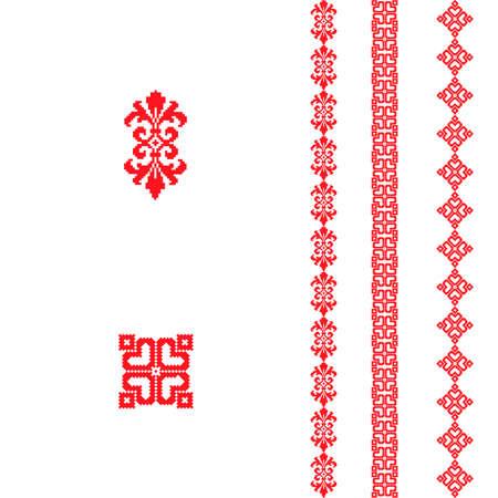 Festive Scandinavian ornament. Christmas pattern with bright pattern. 向量圖像