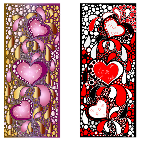 tip style design: Valentines day heart. Zentangle colorful heart symbol. Illustration