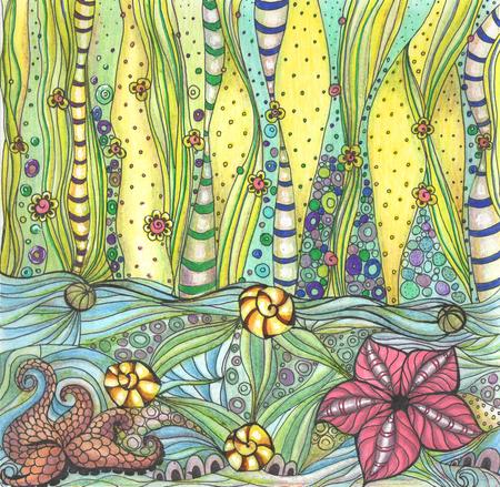 decorative sea bottom