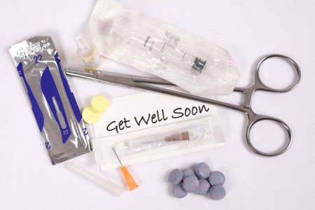 Medical supplies and get well message