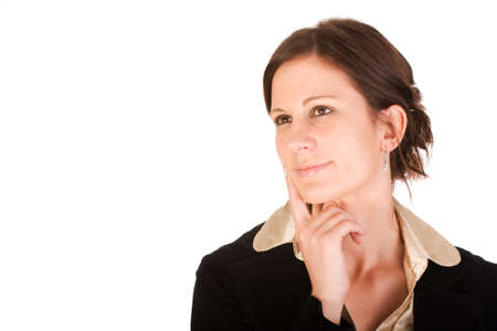 Attractive business woman in thought photo