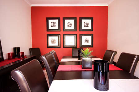 Interior view of cozy family dining room photo