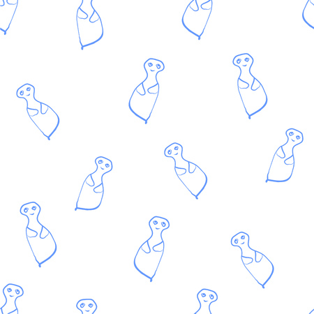 Seamless pattern of the ghosts Illustration