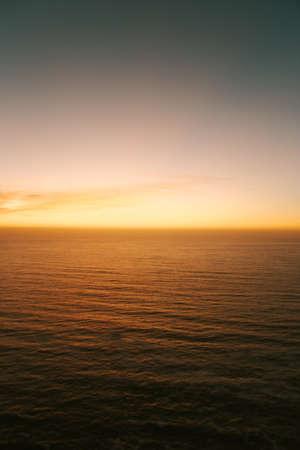 Minimalistic yellow gradient in the horizon