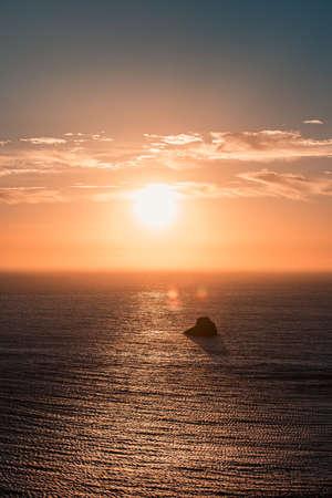 Massive sunset over the horizon on the coast Stock fotó