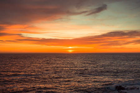 Spanish horizon during a colorful sunset Stock fotó