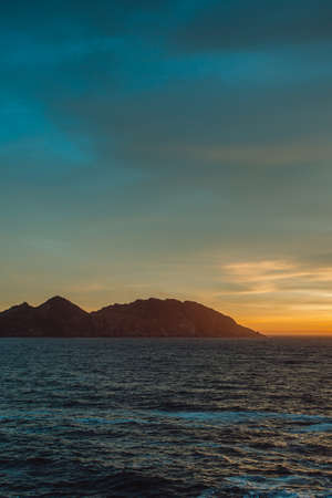 The islands of Spain during the sunset