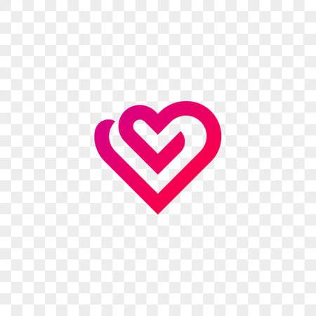 Icono de vector de logo de corazón. Símbolo de corazón moderno aislado para centro médico de cardiología o caridad.