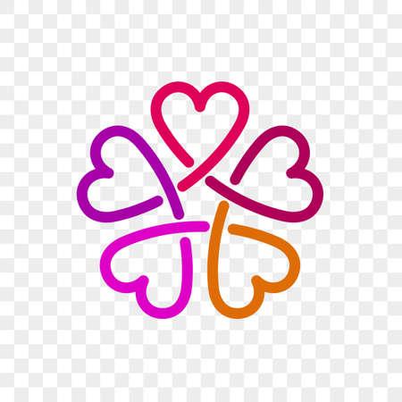 Heart logo vector icon.