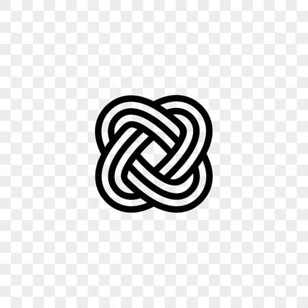 Heart logo vector infinity loop icon.