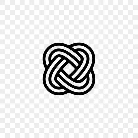 Heart logo vector infinity loop icon.
