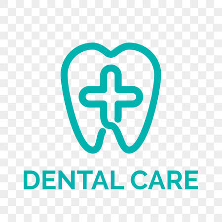 Tooth logo icon for dentist or stomatology dental care design template.