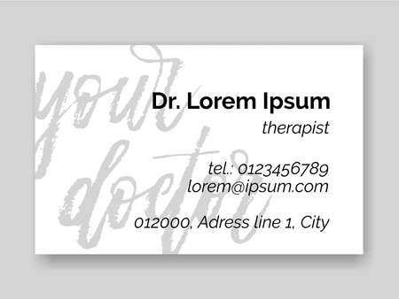 Dental tooth logo icon for dentist therapist business card.