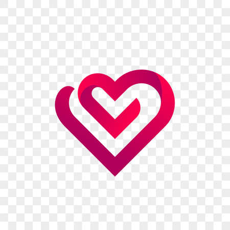 Heart logo vector icon. Isolated modern heart symbol.