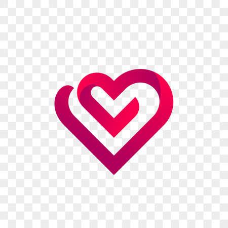 Heart logo vector icon. Isolated modern heart symbol.