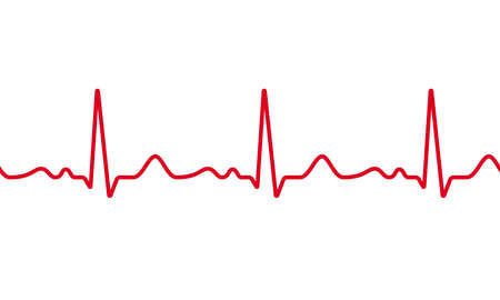 Levenslijn in rode kleurenillustratie op witte achtergrond. Vector Illustratie