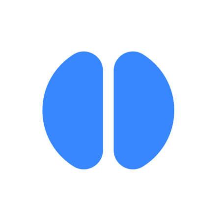 Letter logo modern abstract blue icon of letter I for font logo Vector illustration.