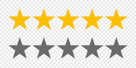 Rating sterren of 5 rate review vector web ranking sterrenbeelden