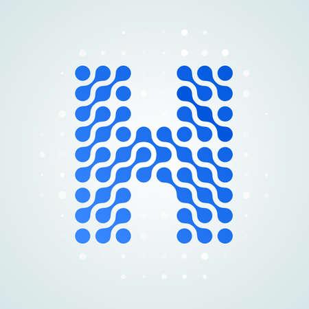 Lettre H moderne demi-teinte icône vector illustration