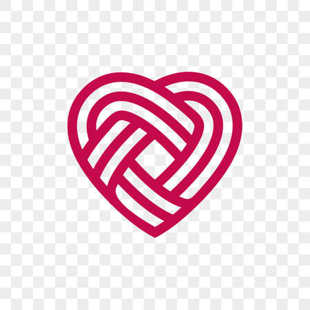 Heart icon vector infinity loop icon. Isolated modern heart symbol for cardiology medical center or charity, Valentine's love or wedding greeting card fashion design for web social net application.