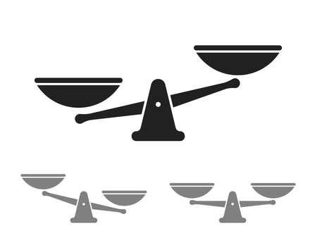 Scale vector icon for balance weight or justice scales law logo templates set 版權商用圖片 - 100182000