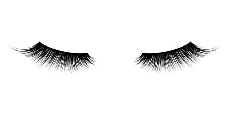 Eyelash or lash vector icons. Vector false long eyelashes for mascara design
