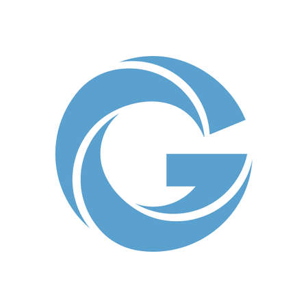 Letter G vector logo in blue and green colors Illustration