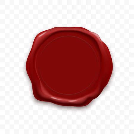 Sello de sello de cera o sello de vector retro de lacre Ilustración de vector