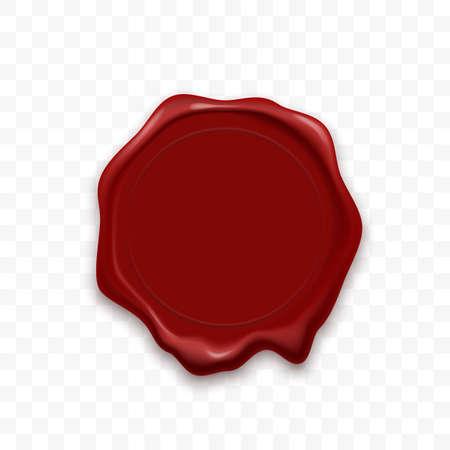 Sello de cera sello vector retro realista sello de sellado
