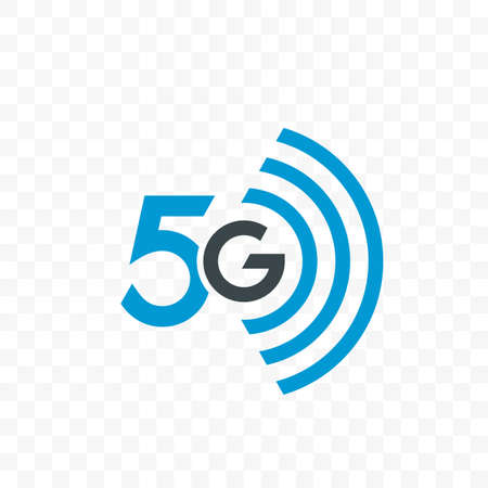 5G internet network vector or UI app icon for 5 G mobile net connection