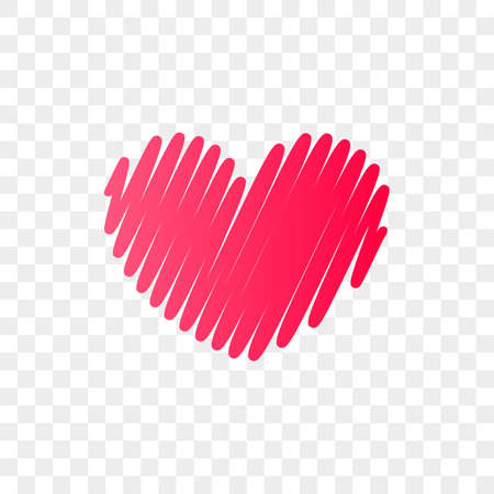 Heart logo vector icon. Isolated modern heart symbol for cardiology medical center or charity, Valentine love or wedding greeting card fashion design for web social net application