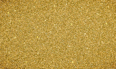 Gold glitter background texture banner. Vector glittery festive background for luxury gift card or holyday Christmas backdrop. Sparkle golden confetti decoration design for premium design
