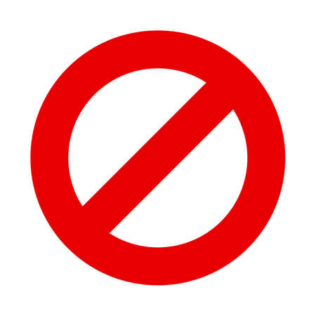 Stop sign vector red warning no entry symbol Illustration