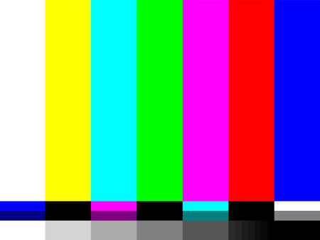No signal TV color test card of vector bar pattern