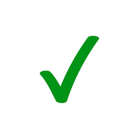 Ikona wektora zielonego znacznika wyboru dla symbolu znacznika pola wyboru Ilustracje wektorowe