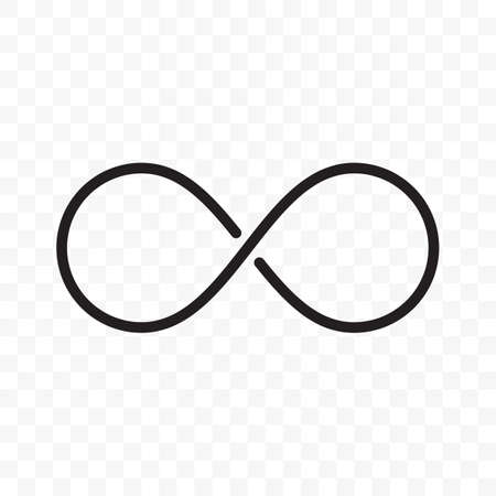 Infinity logo or infinite loop vector thin line icon