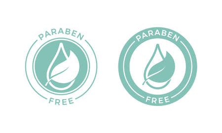 Paraben free vector logo or label icon