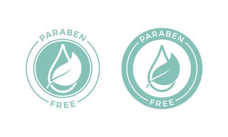 Paraben free vector logo or label icon
